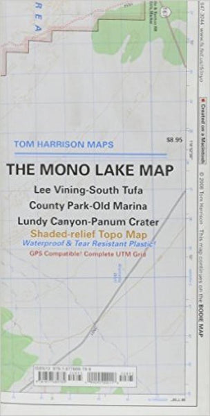 Cover of folded Map of Mono Lake, California by Tom Harrison Maps