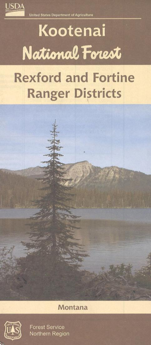 Cover of Kootenai National Forest Map by U.S. Forest Service