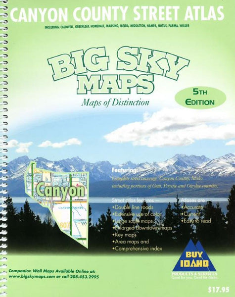 Cover of Canyon County, Idaho Atlas by Big Sky Maps