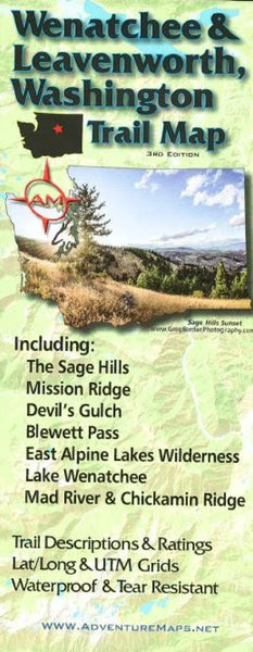 Cover of Wenatchee and Leavenworth, Washington, Trail Map by Adventure Maps