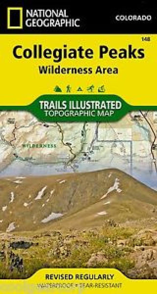Collegiate Peaks Wilderness, Map 148 by National Geographic