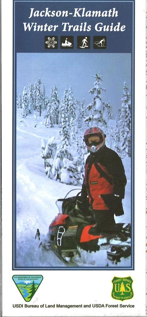 Cover of Jackson-Klamath Winter Trails Guide Map by U.S. Forest Service