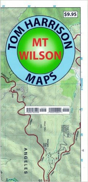 Cover of folded Map of Mount Wilson, California by Tom Harrison Maps