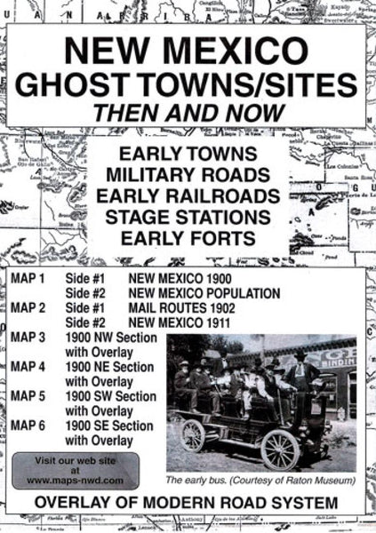 Cover of New Mexico, Ghost Towns, 5-Map Set, Then and Now