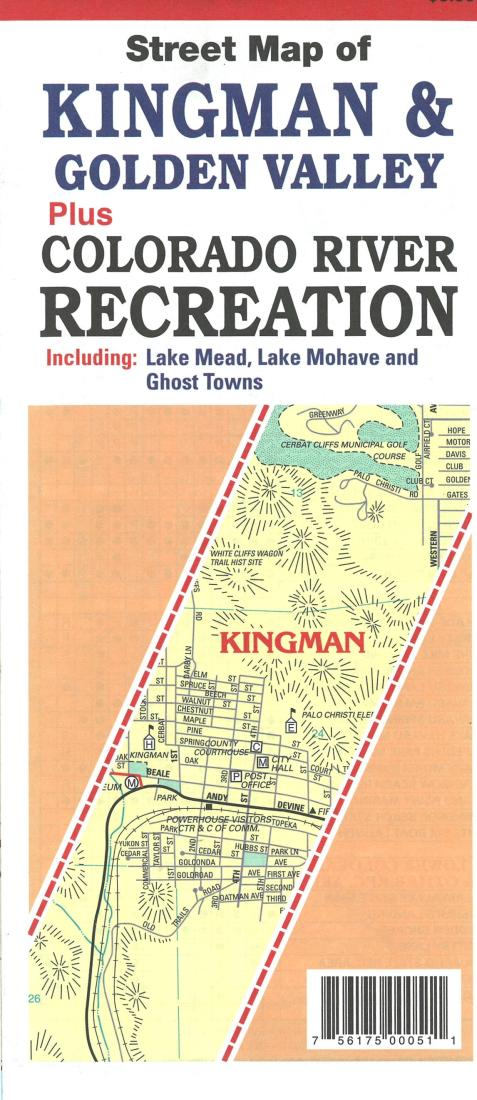 Cover of Street Map of Kingman and Golden Valley, Arizona by North Star Mapping
