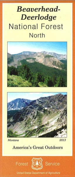 Cover of Beaverhead-Deerlodge National Forest Map - North section by U.S. Forest Service