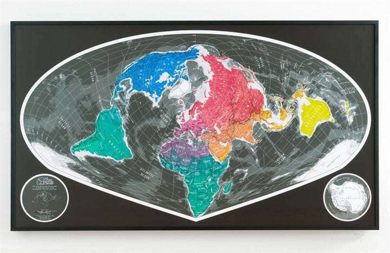 Cover of Sinu Mollweide World Map Version 2 by Future Mapping Company