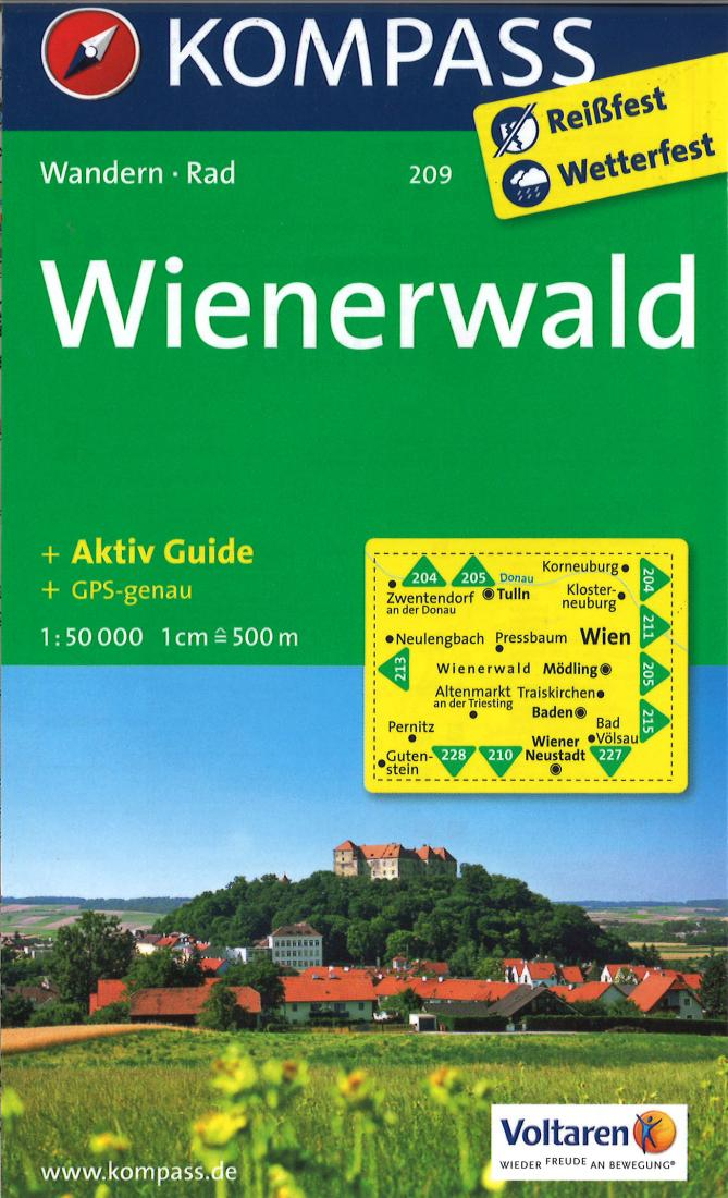 Cover of Wienerwald Hiking Map By Kompass