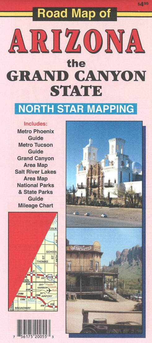 Cover of Road Map of Arizona: the Grand Canyon State by North Star Mapping