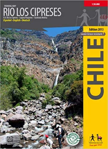 Cover of Rio Los Cipreses, Chile : Trekking Map by Trekking Chile