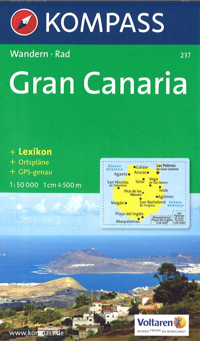 Cover of Gran Canaria Hiking Map By Kompass