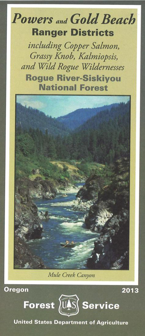 Cover of Rogue River National Forest Map by U.S. Forest Service