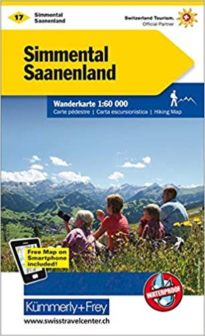 Cover of Simmental - Saanenland : Switzerland Hiking Map #17 by Kummerly + Frey