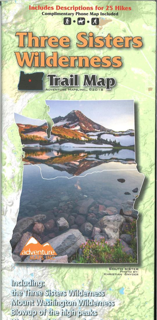 Cover of Three Sisters Wilderness Trail Map by Adventure Maps