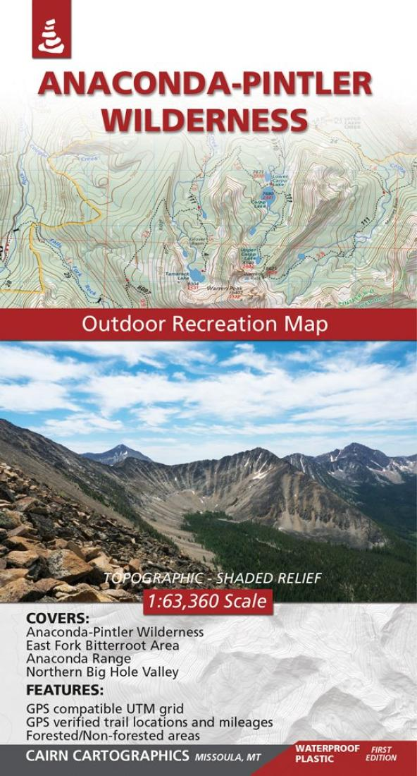 Cover of Anaconda Pintler Wilderness Outdoor Recreation Map  By Cairn Cartographics