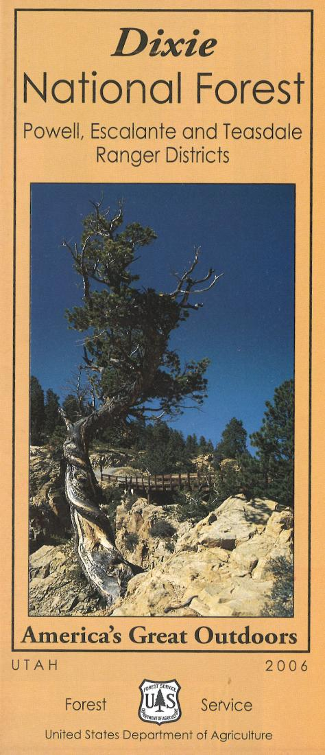 Cover of Dixie National Forest - Powell, Escalante and Teasdale Map by U.S. Forest Service