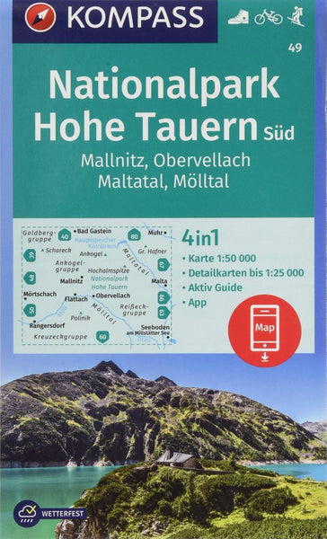 Cover of Mallnitz - Obervellac Hiking Map By Kompass