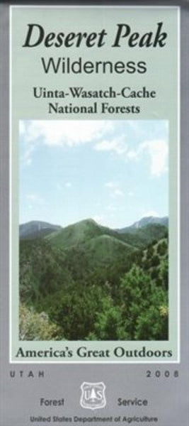 Cover of Desert Peak Wilderness - Uinta Wasatch-Cache National Forest Map by U.S. Forest Service