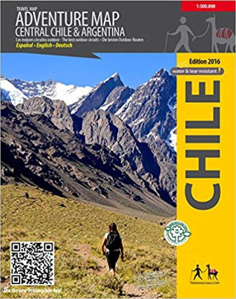 Cover of Central Chile Adventure Map by Trekking Chile