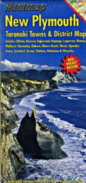 Cover of New Plymouth and Taranaki Towns, New Zealand, Minimap