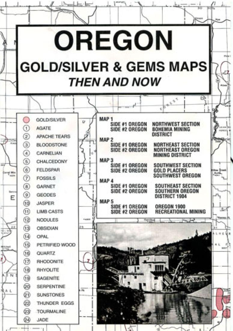 Cover of Oregon, Gold and Gems, 5-Map Set, Then and Now