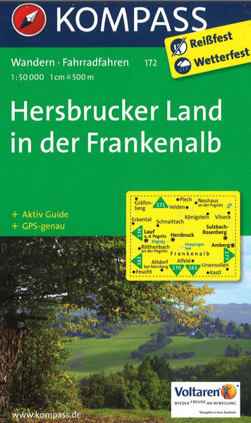 Cover of Hersbrucker Land in der Frankenalb Hiking Map By Kompass