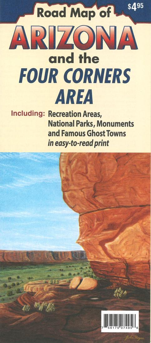 Cover of Arizona and the Four Corners area by North Star Mapping