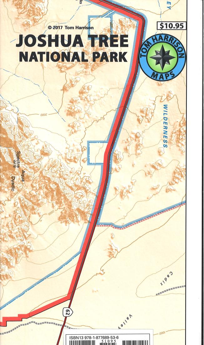 Cover of folded Map of Joshua Tree National Park, California recreation map by Tom Harrison Maps