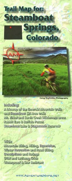 Cover of Steamboat Springs, CO, Trail Map by Adventure Maps