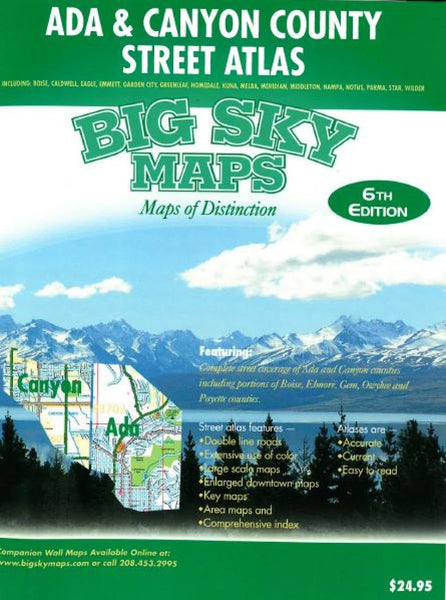 Cover of Ada and Canyon County, Idaho, Atlas by Big Sky Maps