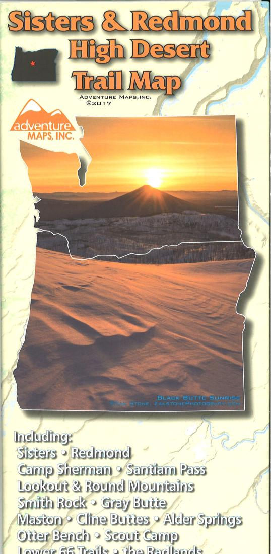 Cover of Sisters & Redmond High Desert Trail Map by Adventure Maps