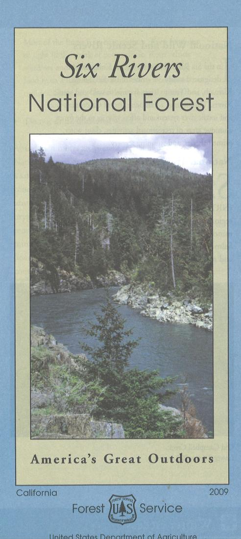 Cover of Six Rivers National Forest Map by U.S. Forest Service