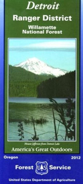 Cover of Willamette National Forest: Detriot Ranger District Map by U.S.Forest Service