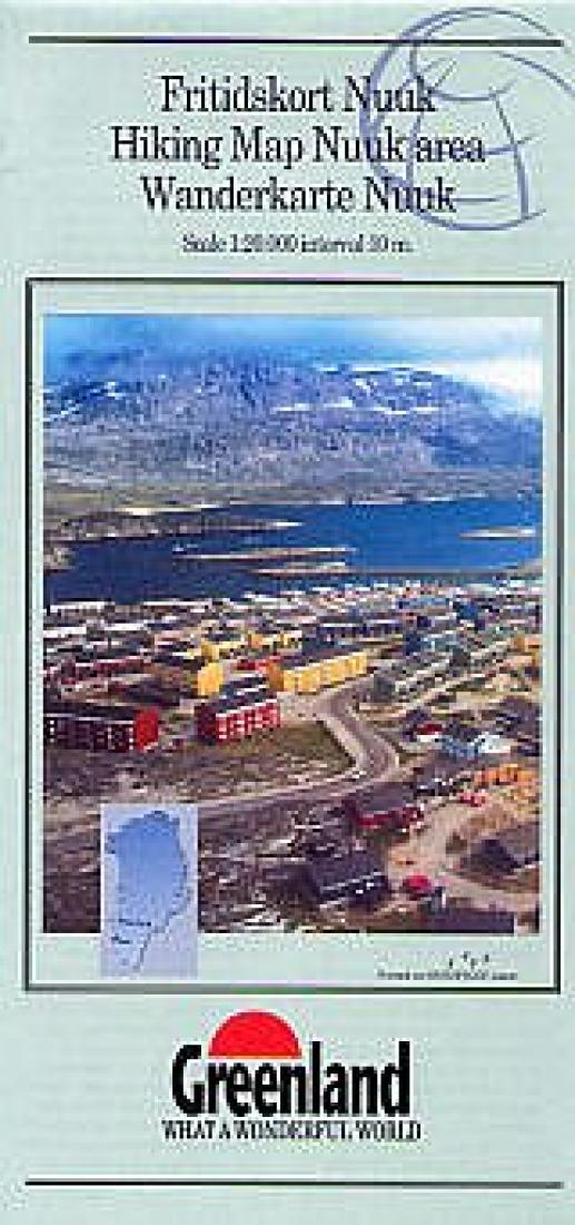 Cover of Nuuk Area Hiking Map by Greenland Tourism
