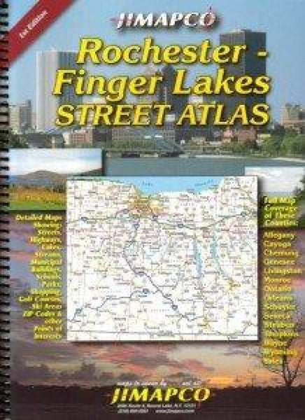 Cover of Rochester and Finger Lanes, New York, Road Atlas by Jimapco