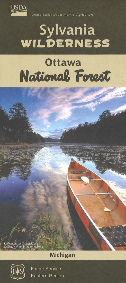 Cover of Sylvania Wilderness: Ottawa National Forest Map by U.S. Forest Service