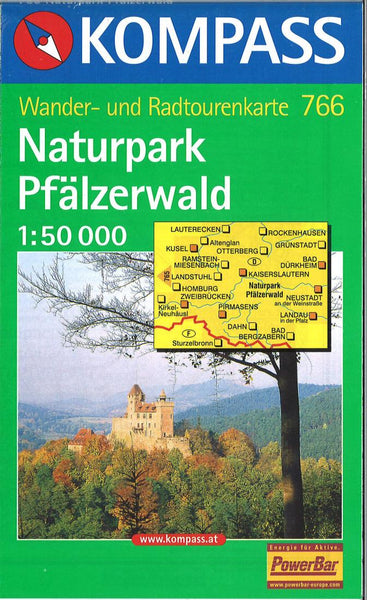 Cover of Naturpark Pfalzerwald Hiking Map By Kompass