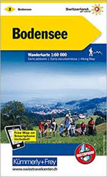 Cover of Bodensee : Switzerland Hiking Map #2 by Kummerly + Frey