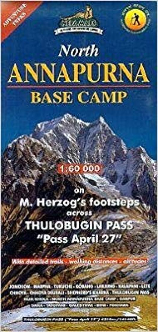 Cover of North Annapurna Base Camp by Nepa Maps