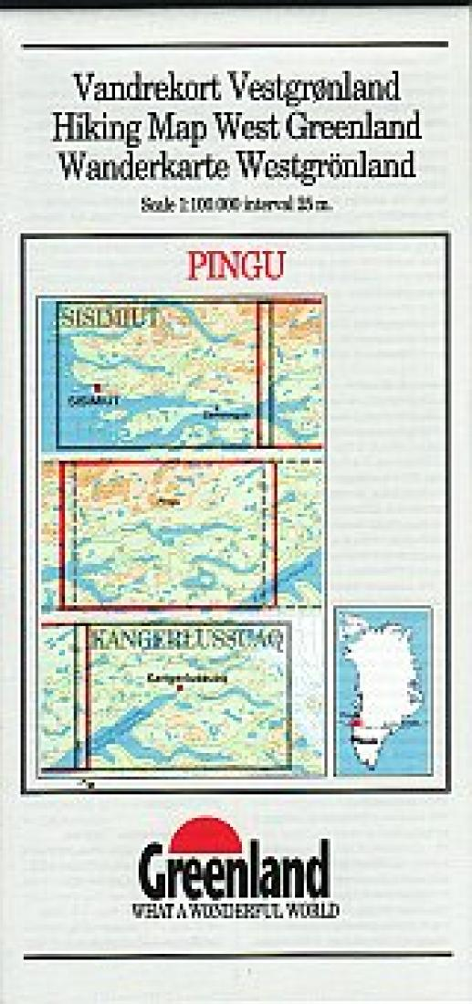 Cover of Pingo Hiking Map by Greenland Tourism