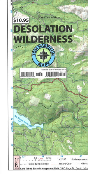 Cover of folded Map of Desolation Wilderness Trail Map by Tom Harrison Maps