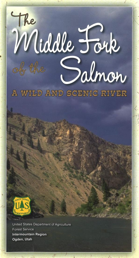 Cover of The Middle Fork of the Salmon River Map by U.S. Forest Service