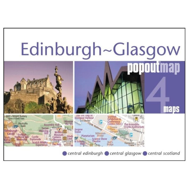 Cover of Edinburgh and Glasgow, Scotland, PopOut Map