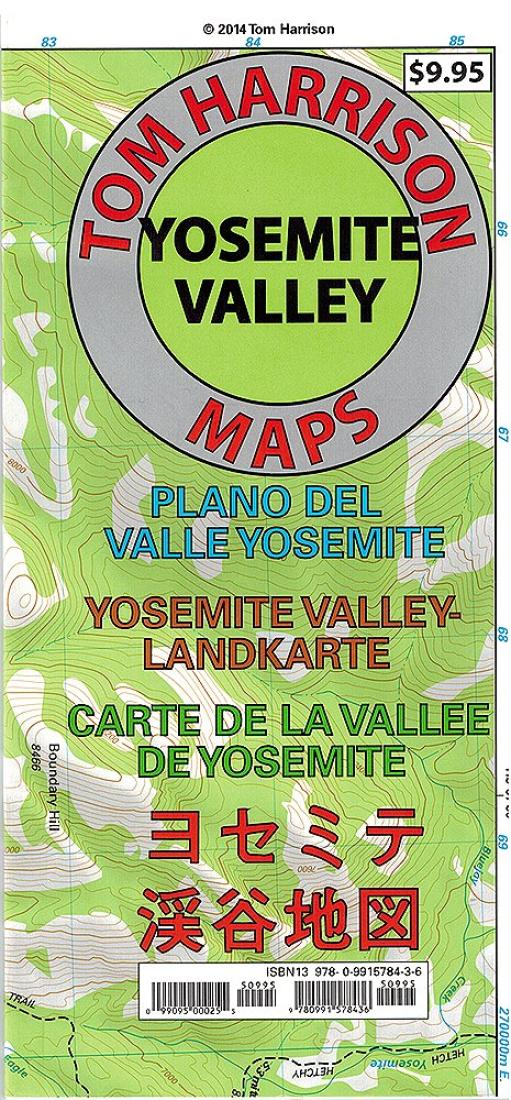 Cover of folded Map of Yosemite Valley, California by Tom Harrison Maps