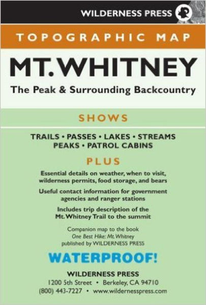 Cover of Mount Whitney, Calfornia Recreation Map by Wilderness Press