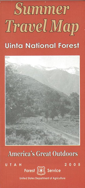 Cover of Uinta National Forest Summer Travel Map by U.S. Forest Service