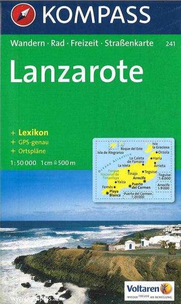 Cover of Lanzarote Hiking Map By Kompass