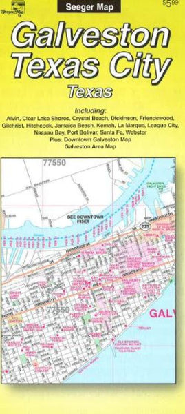 Cover of Galveston and Texas City, Texas by The Seeger Map Company Inc.