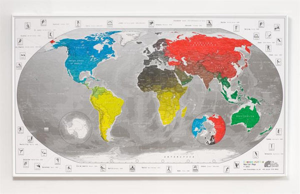 Cover of 2012 Commemorative World Map by Future Mapping Company