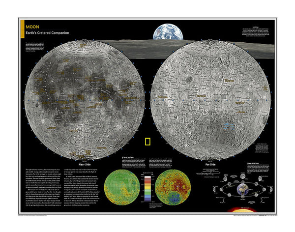 Cover of Moon Map from National Geographic Atlas of the World 10th Edition